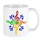 Bass and Treble Clef Design Coffee Mug