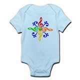 Bass and Treble Clef Design Onesie