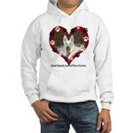 Paw Prints on My Heart, White Hooded Sweatshirt