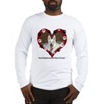 Paw Prints on My Heart, White Long Sleeve T-Shirt