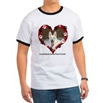 Paw Prints on My Heart, White Ringer T