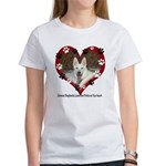 Paw Prints on My Heart, White Women's T-Shirt