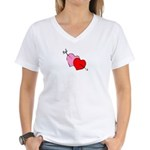 My Valentine Women's V-Neck T-Shirt