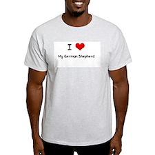 I LOVE MY GERMAN SHEPHERD Ash Grey T-Shirt