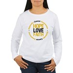 AppendixCancerHope Women's Long Sleeve T-Shirt