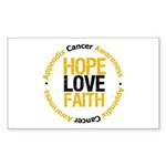 AppendixCancerHope Rectangle Sticker 50 pk)