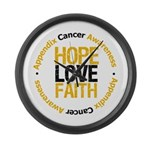 AppendixCancerHope Large Wall Clock