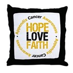 AppendixCancerHope Throw Pillow