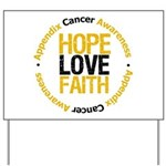 AppendixCancerHope Yard Sign