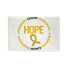 AppendixCancerHopeGrunge Rectangle Magnet