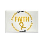 Appendix Cancer Faith Rectangle Magnet (100 pack)