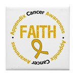 Appendix Cancer Faith Tile Coaster