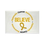 Appendix Cancer Believe Rectangle Magnet (100 pack