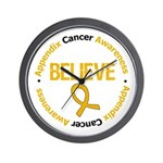 Appendix Cancer Believe Wall Clock