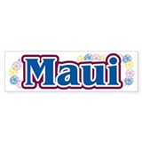 Hawaii - flowers Bumper Bumper Sticker