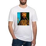 Jah Rastafari Emperor Haile Selassie Fitted T-Shir