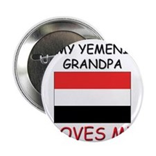 "My Yemeni Grandpa Loves Me 2.25"" Button"
