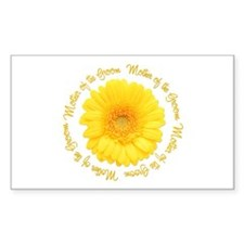 Daisy Mother of the Groom Rectangle Sticker 50 pk