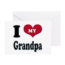 I Love My Grandpa Greeting Card / with greeting