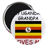 My Ugandan Grandpa Loves Me Magnet