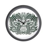 Maori Tattoo-stone Wall Clock