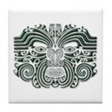 Maori Tattoo-stone Tile Coaster