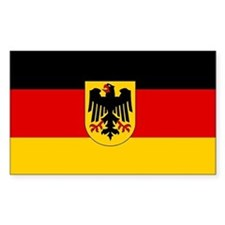 Plain German state flag sticker