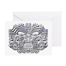 Maori Tattoo-silver Greeting Cards (Pk of 10)