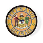 Delaware Masons Wall Clock