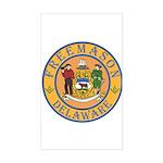 Delaware Masons Rectangle Sticker