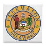 Delaware Masons Tile Coaster