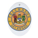 Delaware Masons Oval Ornament