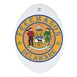 Delaware Masons Oval Ornament