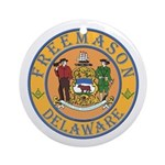 Delaware Masons Ornament (Round)