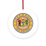 Delaware Masons Ornament (Round)
