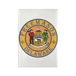 Delaware Masons Rectangle Magnet
