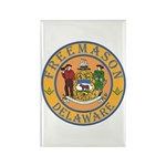 Delaware Masons Rectangle Magnet (10 pack)