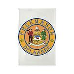 Delaware Masons Rectangle Magnet (10 pack)