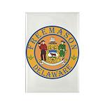 Delaware Masons Rectangle Magnet (100 pack)