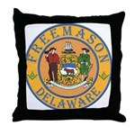 Delaware Masons Throw Pillow