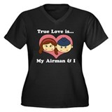 True Love is My Airman and I Women's Plus Size V-N