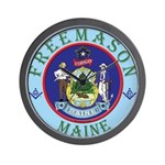 Maine Mason Wall Clock