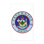 Maine Mason Rectangle Sticker