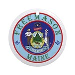 Maine Mason Ornament (Round)