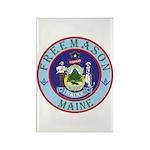 Maine Mason Rectangle Magnet (100 pack)