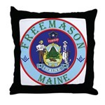 Maine Mason Throw Pillow