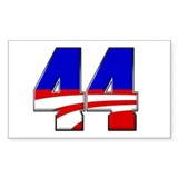 Obama 44 Rectangle Sticker 50 pk)