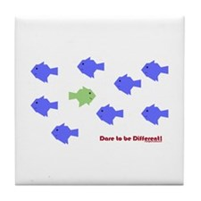 Dare 2 Be Different Tile Coaster