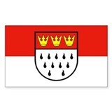 Cologne flag sticker