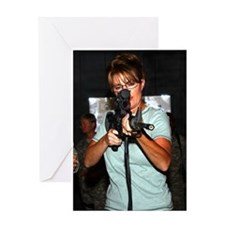 Sarah Taking Aim Greeting Card
